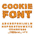 cookies font biscuits with chocolate drops vector image vector image