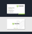 corporate business card with letter m vector image vector image