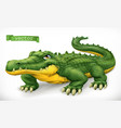crocodile alligator funny character animal 3d icon vector image