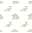 Dinosaurs seamless background vector image vector image