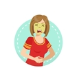 Disgusted Emotion Body Language vector image vector image