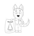dog policeman discovers a christmas tree vector image vector image