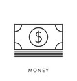 dollar banknotes icon vector image