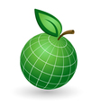 Earth Globe as Apple Symbol vector image vector image