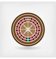 European roulette wheel casino symbol vector image