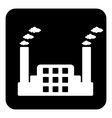 Factory symbol button vector image vector image