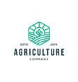 Farm land logo designs concept agriculture logo
