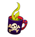 fire halloween cocktail icon cartoon style vector image