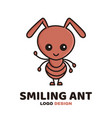 fun cute smiling smart ant vector image vector image