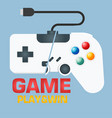 game play win game controller background vector image
