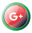 google plus sign inside a green round frame icon vector image vector image