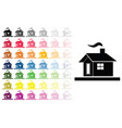 houses set in multiple colors vector image vector image