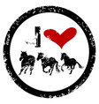 i love horses rubber stamp vector image vector image