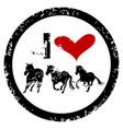 I love horses rubber stamp