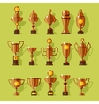 icons set of silver sport award cups vector image
