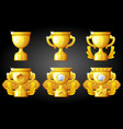 improving rating gold cup for game vector image