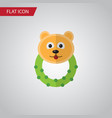isolated bear beanbag flat icon rattle vector image