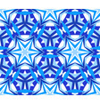 kaleidoscope starry blue background vector image vector image