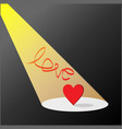 love in light and dark vector image vector image