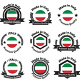 Made in Italy badge set vector image vector image