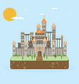 magic fantasy castle - flat style vector image