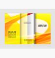 modern blue tri-fold brochure design templa vector image vector image