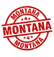 montana red round grunge stamp vector image vector image