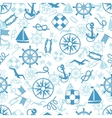 Nautical or marine themed seamless pattern vector image