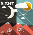 Night and Day vector image vector image