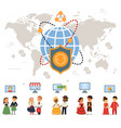 online banking with global vector image