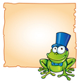party frog with background vector image vector image