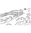 popular inscription hollywood sign vector image vector image