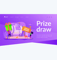 prize draw landing page template vector image vector image