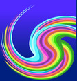 rainbow swirly background vector image