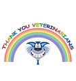 rainbow symbol support for veterinarians vector image vector image