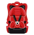 red child car seat vector image vector image