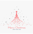 red christmas tree made with particles vector image