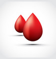 red water droplets vector image vector image