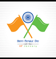 Republic Day greeting with indian flag vector image vector image