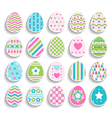 set of color easter eggs decorated of ornament vector image