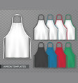 set of isolated cooking apron or working uniform vector image