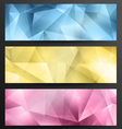 Set Of Low Poly Web Banners vector image vector image