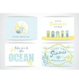 Set of summer cards with hand-drawing elements vector image vector image