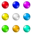 Shiny glossy colorful spheres vector image