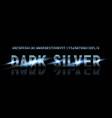 silver font alphabet vector image vector image