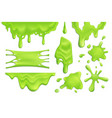 slime blots realistic set vector image