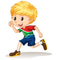 South African boy running vector image vector image