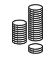 stack coins icon treasure and income symbol vector image