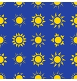 suns in sky seamless pattern vector image