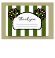 Thank you Note - tree from Wonderland garden vector image vector image